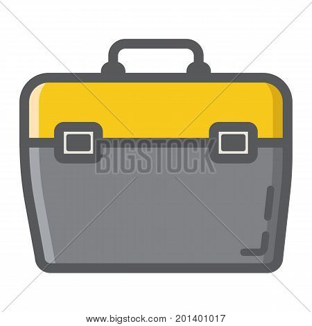 Toolbox filled outline icon, build and repair, toolkit sign vector graphics, a colorful line pattern on a white background, eps 10.