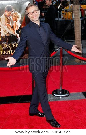 """NEW YORK - APRIL 17:  Actor Christoph Waltz attends the premiere of """"Water for Elephants"""" at the Ziegfeld Theatre on April 17, 2011 in New York City."""