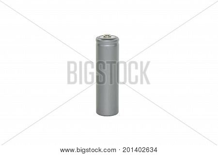 Isolated on white. Pattern of grey battery AA.