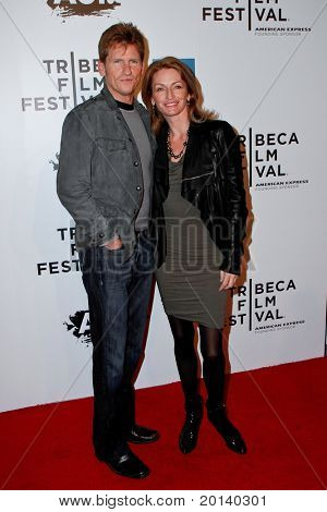 NEW YORK - APRIL 20: Denis and Ann Leary attend the opening night premiere of