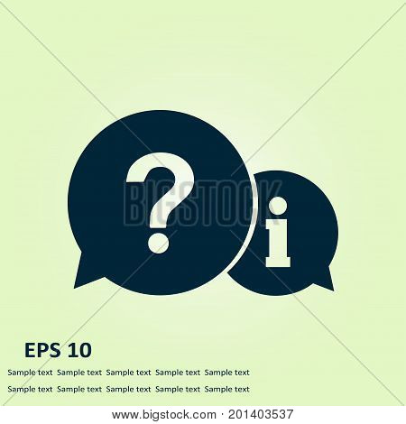 Information exchange theme icon, collect and analyze info. Flat design style. Vector.