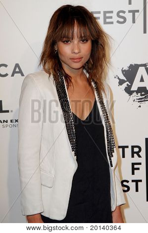 "NEW YORK - APRIL 20: Zoe Kravitz attends the opening night premiere of ""The Union"" at 2011 TriBeCa Film Festival at North Cove at World Financial Center Plaza on  April 20, 2011 in New York City."