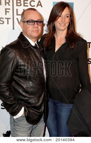 """NEW YORK - APRIL 20: Bernie and Stephanie Taupin attend the opening night premiere of """"The Union"""" at 2011 TriBeCa Film Festival at World Financial Center Plaza on  April 20, 2011 in New York City."""