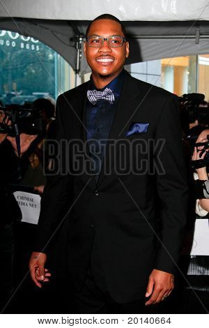 NEW YORK - APRIL 26: Knicks forward Carmelo Anthony attends the Time 100 Gala for the 100 Most Influential People in the World at the Time Warner Center on April 26, 2011 in New York City.
