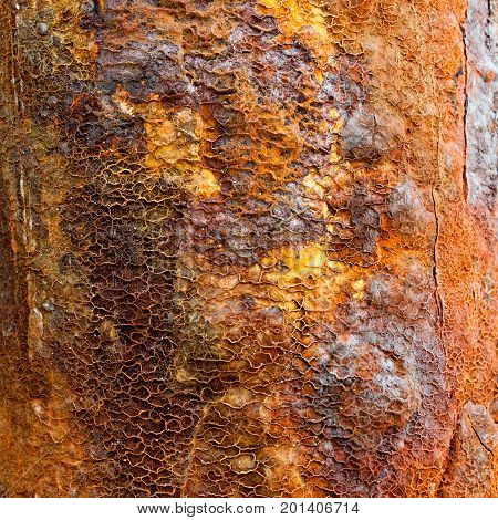 Rusty metal texture background. Rusty metal is caused by moisture in the air and sea spray