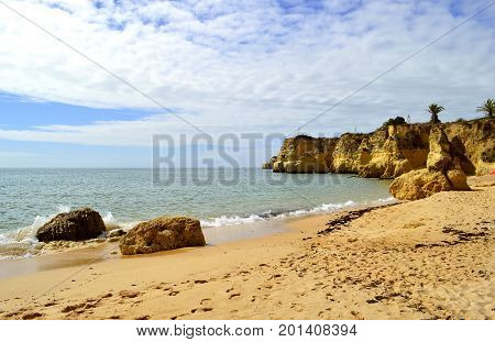 Vale Do Olival Beach spectacular cliffs in Portugal