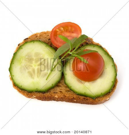 healthy sandwich isolated on white background