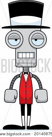 Cartoon Bored Ringmaster Robot