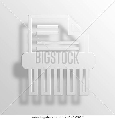 Paper Shredder 3D Rendering Paper Icon Symbol Business Concept