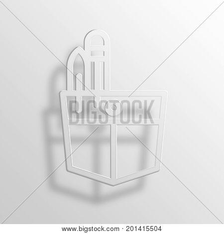 pocket 3D Rendering Paper Icon Symbol Business Concept