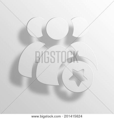 politicians 3D Rendering Paper Icon Symbol Business Concept