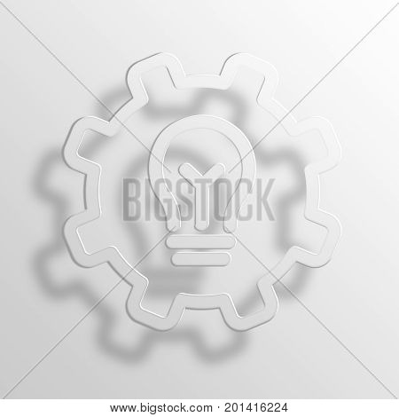 preferences 3D Rendering Paper Icon Symbol Business Concept