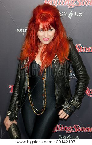HOLLYWOOD, CA. - NOV 21: Bonnie McKee arrives at the 2010 American Music Awards Rolling Stone Magazine VIP After Party at Rolling Stone Restaurant and Lounge on November 21, 2010 in Hollywood, Ca.