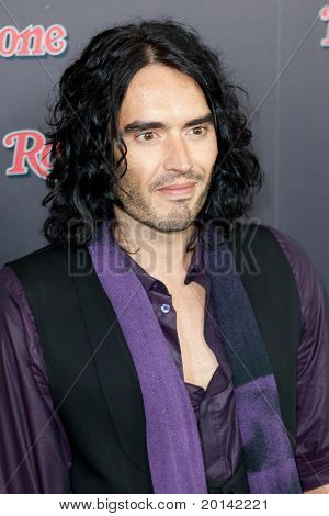 HOLLYWOOD, CA. - NOV 21: Russell Brand arrives at the 2010 American Music Awards Rolling Stone Magazine VIP After Party at Rolling Stone Restaurant and Lounge on November 21, 2010 in Hollywood, Ca.
