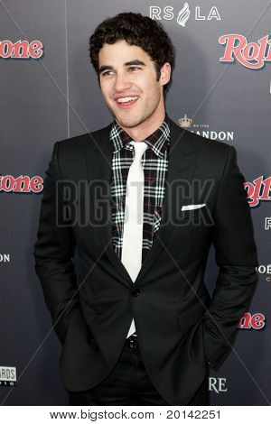 HOLLYWOOD, CA. - NOV 21: Darren Criss arrives at the 2010 American Music Awards Rolling Stone Magazine VIP After Party at Rolling Stone Restaurant and Lounge on November 21, 2010 in Hollywood, Ca.