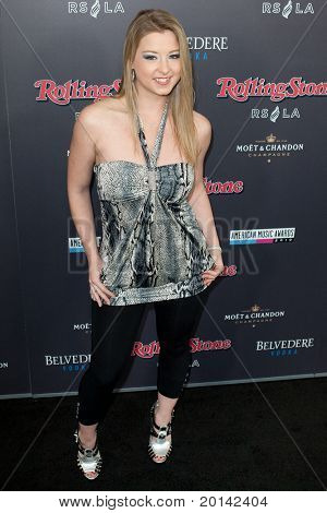 HOLLYWOOD, CA. - NOV 21: Sunny Lane arrives at the 2010 American Music Awards Rolling Stone Magazine VIP After Party at Rolling Stone Restaurant and Lounge on November 21, 2010 in Hollywood, Ca.