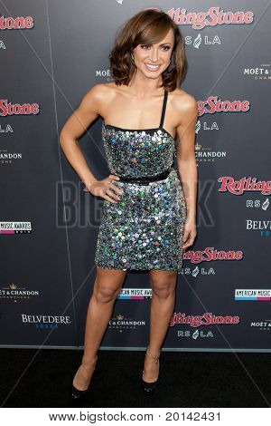 HOLLYWOOD, CA. - NOV 21: Karina Smirnoff arrives at the 2010 American Music Awards Rolling Stone Magazine VIP After Party at Rolling Stone Restaurant and Lounge on November 21, 2010 in Hollywood, Ca.