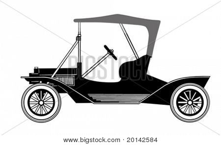 vector silhouette car on white background