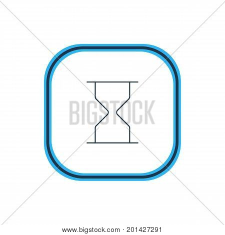 Beautiful Interface Element Also Can Be Used As Hourglass Element.  Vector Illustration Of Sand Clock Outline.