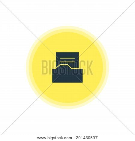 Beautiful Internet Element Also Can Be Used As Document Directory Element.  Vector Illustration Of Folder Icon.