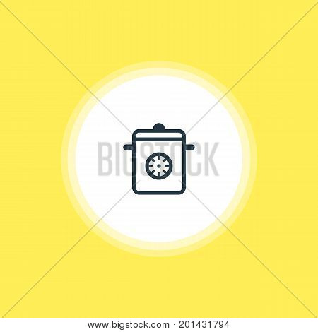 Beautiful Kitchenware Element Also Can Be Used As Steamer Element.  Vector Illustration Of Multicooker Icon.