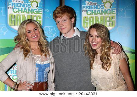 LOS ANGELES - MAY 14:  Tiffany Thornton, Adam Hicks, Bridgit Mendler at the Disney ABC Television Group May Press Junket 2011 at ABC Building on May 14, 2011 in Burbank, CA