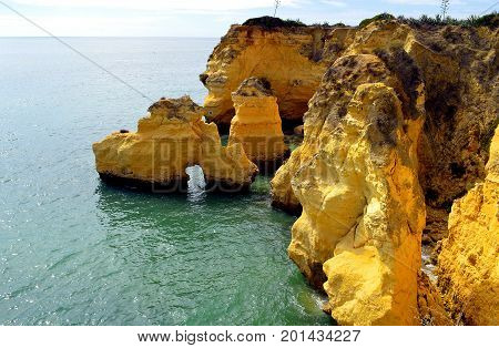 Rock formation in Vale Do Olival Portugal