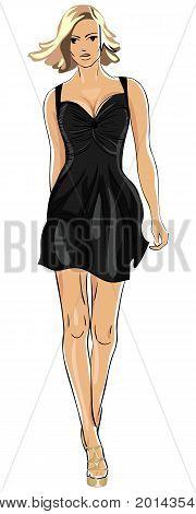 Vector Little Black Dress