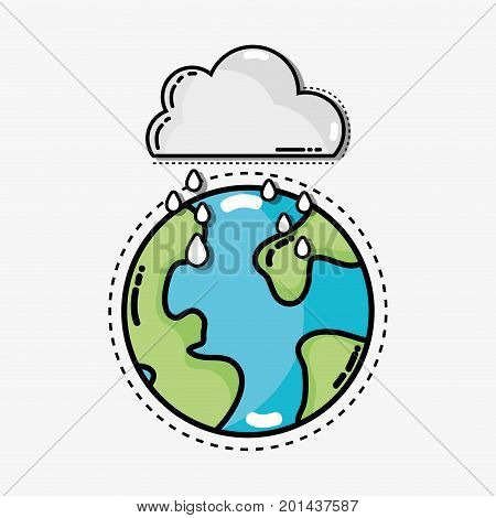 natural weather condition and diferents temperature vector illustration