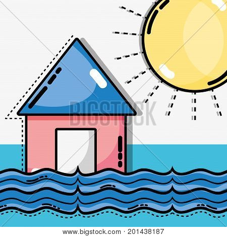 weather natural conditions with diferents temperatures vector illustration
