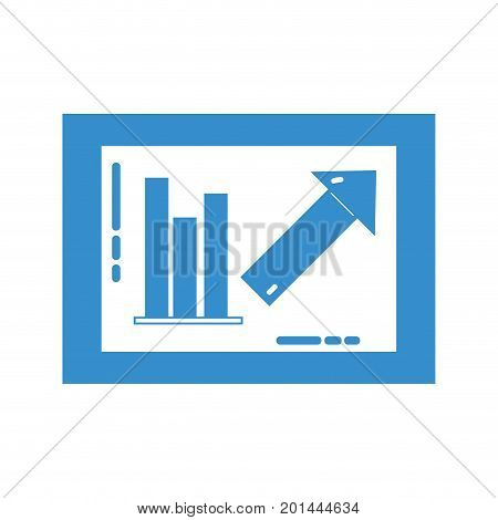 silhouette document with statistics bar diagram graphy vector illustration poster