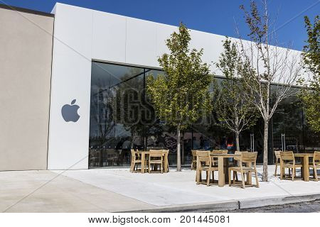 Indianapolis - Circa August 2017: Apple Store Retail Mall Location. Apple sells and services the iPhone iPad iMac and Macintosh computers III