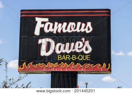 Indianapolis - Circa August 2017: Famous Dave's Bar-B-Que Restaurant location. Famous Daves has been listed on the NASDAQ since 1996 I
