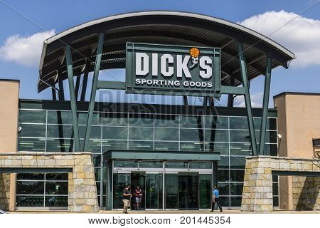 Indianapolis - Circa August 2017: Dick's Sporting Goods Retail Location. Dick's is an Authentic Full-Line Sporting Goods Retailer VI