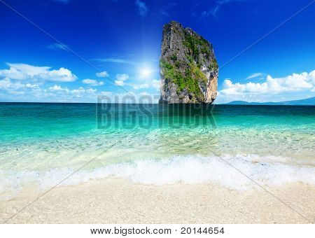 Poda island and tropical fishes