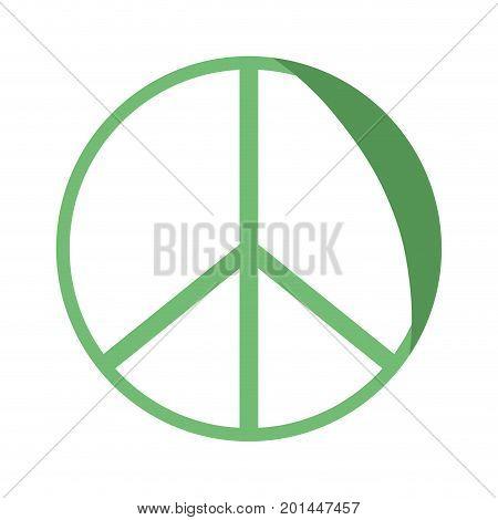silhouette hippie peace and love symbol design vector illustration