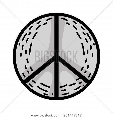 line hippie peace and love symbol design vector illustration