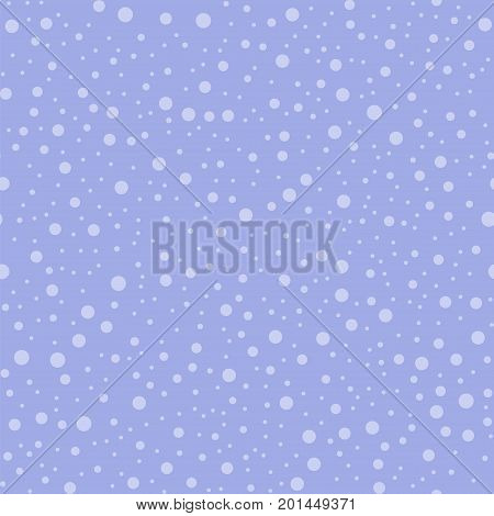 Light Polka Dots Seamless Pattern On Purple Background. Interesting Classic Light Polka Dots Textile