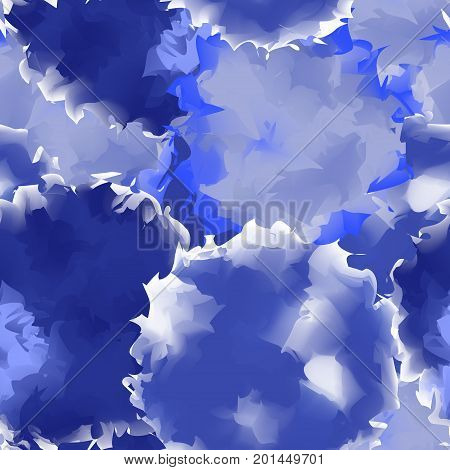 Indigo Seamless Watercolor Texture Background. Bewitching Abstract Indigo Seamless Watercolor Textur