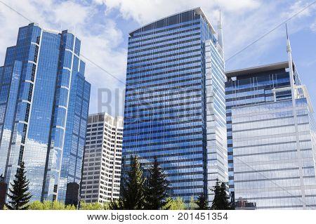 Modern architecture of Calgary. Calgary Alberta Canada.