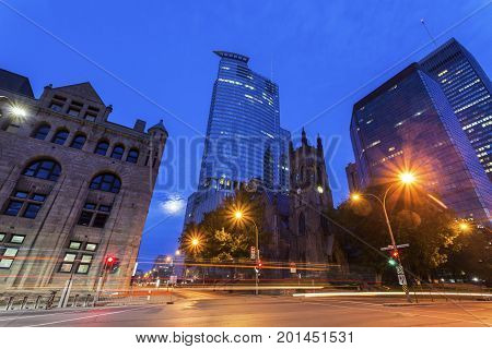 St. George's Anglican Church in Montreal. Montreal Quebed Canada.