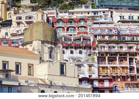 Santa Maria Assunta Church in Positano. Positano Campania Italy