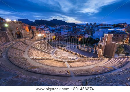 Roman Theatre in Cartagena. Cartagena Murcia Spain. poster