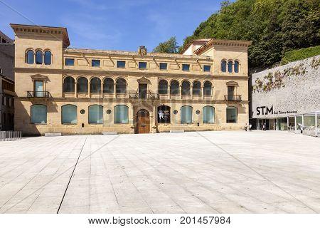 San Sebastian Spain - June 7 2017: The San Telmo museum in the old town of San Sebastian Donostia. Basque country Spain