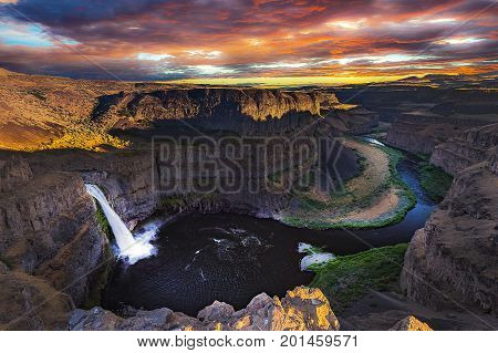 Palouse Fall During Sunset