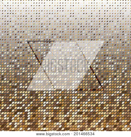 Parallelogram gold halftone dot abstract background stock vector
