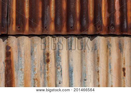 Rusty galvanized iron sheets background pattern texture