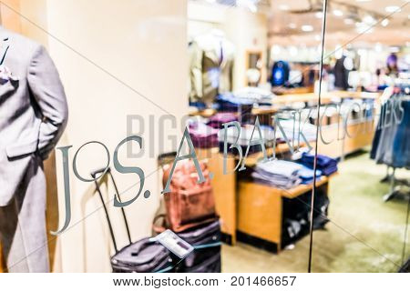 Washington Dc, Usa - July 1, 2017: Inside Union Station In Capital City With Shopping Mall And Jos A