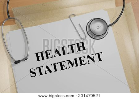 Health Statement - Medical Concept