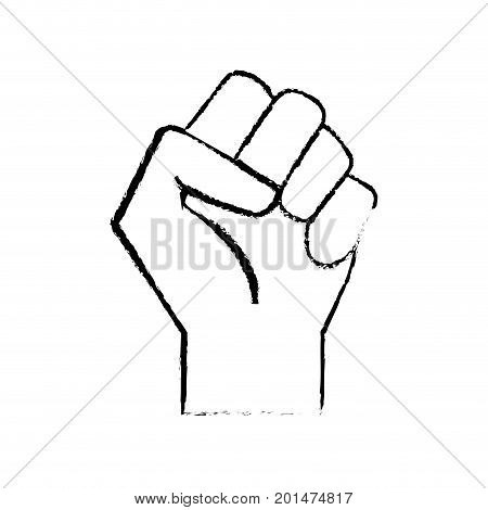 figure hand tight with all fingers design vector illustration